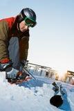 滑雪房客 免版税库存图片