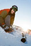 滑雪房客 库存图片