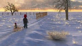 雪撬结构D 免版税图库摄影