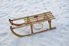雪撬雪 库存图片