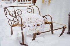 雪撬 库存图片