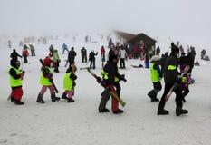 滑雪教训 库存图片