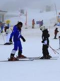滑雪教训 库存照片
