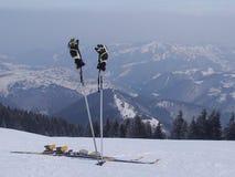 滑雪断裂 免版税图库摄影