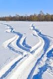 雪方式 免版税库存照片