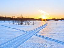 雪方式 库存照片