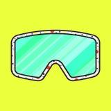 滑雪时尚太阳镜传染媒介象 向量例证