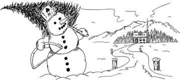 雪时间 免版税库存照片