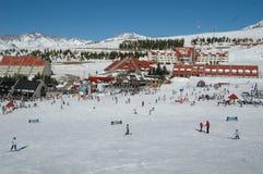滑雪时间 免版税库存照片
