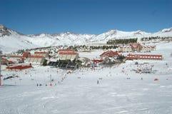 滑雪时间 库存图片