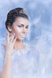 雪显示水晶的女王/王后概念 免版税图库摄影