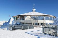 雪朗峰山,瑞士上面  库存图片