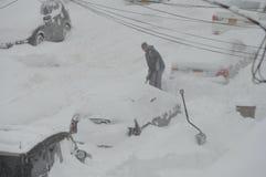 雪朱诺风暴  库存照片