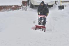 雪朱诺风暴  库存图片