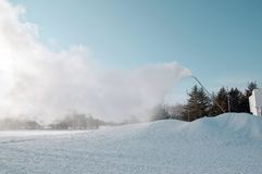 雪机枪 免版税库存图片