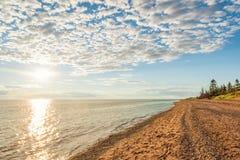 雪松沙丘省Park's海滩 库存照片