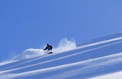 雪板运动在阿拉斯加 库存图片