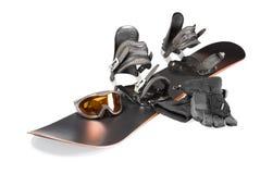 雪板运动的设备 免版税图库摄影
