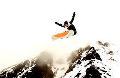 雪板运动 免版税图库摄影