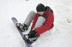雪板运动 图库摄影
