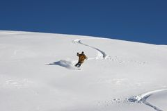 雪板tenerife 免版税库存照片