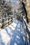 雪桥梁 库存照片