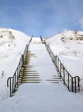 雪楼梯 免版税库存照片