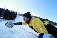 雪橄榄球国际TARVISIO 免版税库存照片