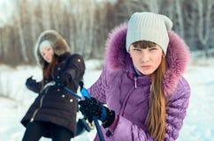 滑雪步行。 免版税库存图片