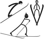 滑雪比赛的复合的 图库摄影