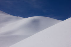 雪沙丘 库存图片