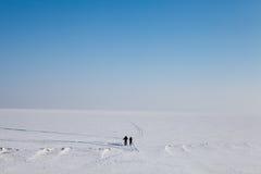 雪沙漠 库存图片
