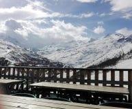滑雪法国 免版税库存图片