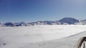 滑雪法国 库存照片