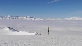 滑雪法国 库存图片