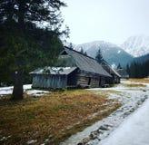 雪波兰扎科帕内冬天山 库存照片
