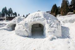 雪洞 免版税库存图片