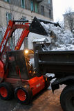 雪清洁 图库摄影