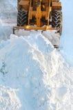 雪清洁 库存照片