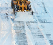 雪清洁 免版税库存照片