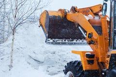 雪清洁 免版税图库摄影
