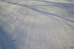 雪滑雪滑雪道 库存照片