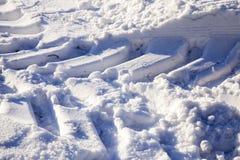 雪漂泊在冬天 免版税库存图片