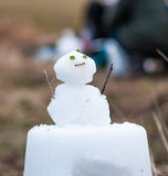 雪灯笼在Miyama,京都,日本 库存图片