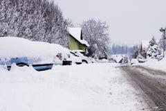 雪灾难 库存照片