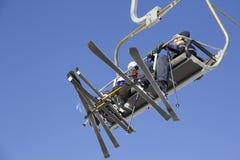 滑雪电缆车在雍Pyong韩国 库存图片