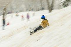 滑雪男孩 图库摄影