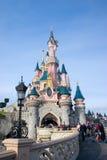 雪白城堡的eurodisney 库存图片