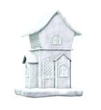 雪白背景的房子 向量例证