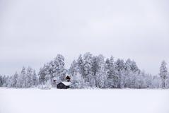 雪白色冬天海岛 免版税库存图片